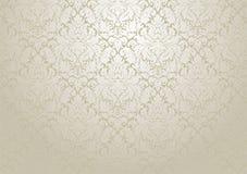 Projeto do papel de parede do damasco do vetor Deco floral repetitivo sem emenda Imagens de Stock Royalty Free