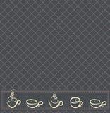 Projeto do papel de parede do chá ou do café ilustração do vetor