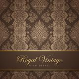 Projeto do papel de parede do vintage. Fundo do Flourish. Flo Fotografia de Stock Royalty Free