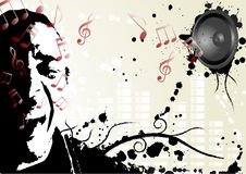 Projeto do partido da música Imagens de Stock