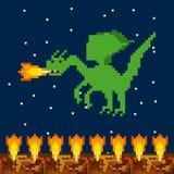 Projeto do pixel do jogo de vídeo ilustração royalty free