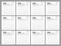 Projeto 2018 do planejador Fotos de Stock Royalty Free