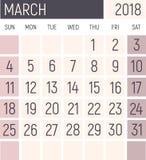 Projeto do planejador do calendário ilustração royalty free
