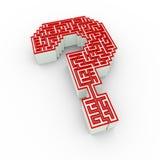 projeto do ponto de interrogação do labirinto 3d Fotografia de Stock
