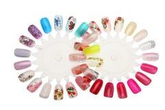 Projeto do prego do Manicure Imagem de Stock Royalty Free