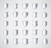 Projeto do protetor de prata ajustado com várias formas Fotos de Stock