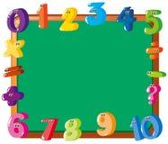 Projeto do quadro com números coloridos na beira ilustração do vetor