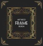 Projeto do quadro do art deco para seu projeto Fotos de Stock Royalty Free