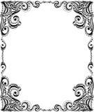 Projeto do quadro do molde para o cartão. Teste padrão floral. ilustração royalty free