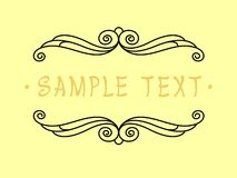 Projeto do quadro do vintage Ilustração do vetor Fundo amarelo preto Fotografia de Stock Royalty Free