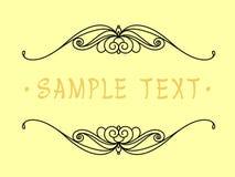 Projeto do quadro do vintage Ilustração do vetor Fundo amarelo preto Imagens de Stock Royalty Free