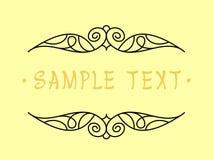 Projeto do quadro do vintage Ilustração do vetor Fundo amarelo preto Imagem de Stock