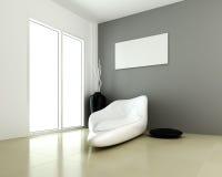 Projeto do quarto moderno interior ilustração stock