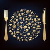Projeto do restaurante Imagem de Stock