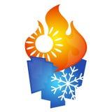 Projeto do símbolo do condicionamento de ar ilustração do vetor