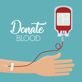 Projeto do sangue da doação Foto de Stock