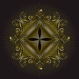 Projeto do selo do emblema do ouro Imagem de Stock