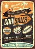 Projeto do sinal do vetor do vintage das vendas do carro ilustração do vetor