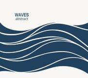 Projeto do sumário do logotipo da onda de água Logotype c do esporte da ressaca dos cosméticos Fotografia de Stock Royalty Free