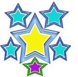 Projeto do t-shirt da estrela Imagens de Stock