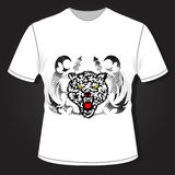 Projeto do t-shirt dos homens, teste padrão de matéria têxtil Ilustração Stock