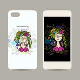 Projeto do telefone celular, fada floral Foto de Stock Royalty Free