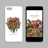Projeto do telefone celular, fundo floral Imagem de Stock