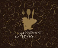 Projeto do tempale do menu do restaurante Foto de Stock Royalty Free