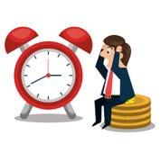 Projeto do tempo do imposto ilustração stock