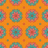 Projeto do teste padrão de flor do vetor Fotografia de Stock Royalty Free