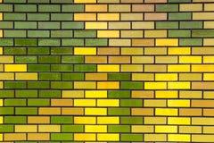 Projeto do teste padrão e textura retangulares pintados da parede de tijolo Imagem de Stock Royalty Free