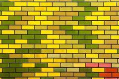 Projeto do teste padrão e textura retangulares pintados da parede de tijolo Imagens de Stock Royalty Free