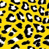 Projeto do teste padrão do leopardo - teste padrão sem emenda do desenho engraçado ilustração do vetor