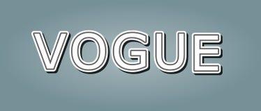 Projeto do texto da notícia de Vogue para a cópia do t-shirt do ícone do conceito Ilustração do vetor ilustração do vetor