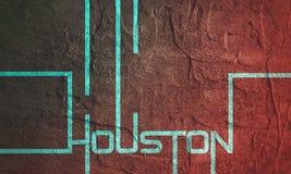 Projeto do texto de Houston ilustração stock