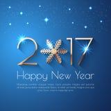Projeto do texto do ano novo feliz 2017 Imagens de Stock Royalty Free