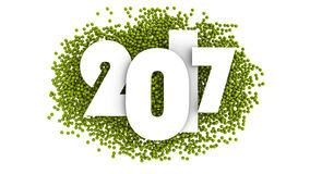 Projeto do texto do ano novo feliz 2017 ilustração 3D Imagens de Stock
