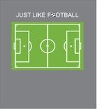 Projeto do Tshirt - apenas como o futebol Fotografia de Stock Royalty Free