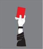 PROJETO do TSHIRT - cartão vermelho Fotografia de Stock Royalty Free