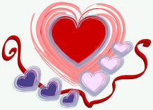 Projeto do Valentim Imagens de Stock Royalty Free