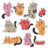 Projeto do vetor do caráter do gato ilustração do vetor