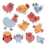 Projeto do vetor do caráter do pássaro ilustração royalty free