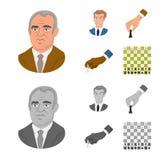 Projeto do vetor do checkmate e do ícone fino Ajuste da ilustração do vetor do estoque do checkmate e do alvo ilustração royalty free