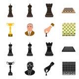 Projeto do vetor do checkmate e do ícone fino Coleção da ilustração do vetor do estoque do checkmate e do alvo ilustração stock