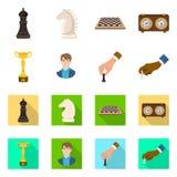 Projeto do vetor do checkmate e do ?cone fino Ajuste da ilustra??o do vetor do estoque do checkmate e do alvo ilustração royalty free