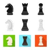 Projeto do vetor do checkmate e do logotipo fino Ajuste do ?cone do vetor do checkmate e do alvo para o estoque ilustração stock