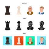 Projeto do vetor do checkmate e do logotipo fino Ajuste da ilustra??o do vetor do estoque do checkmate e do alvo ilustração do vetor