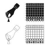 Projeto do vetor do checkmate e do logotipo fino Ajuste da ilustra??o do vetor do estoque do checkmate e do alvo ilustração royalty free