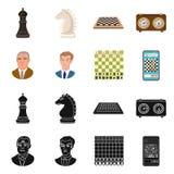 Projeto do vetor do checkmate e do logotipo fino Coleção do ícone do vetor do checkmate e do alvo para o estoque ilustração royalty free