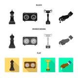 Projeto do vetor do checkmate e do logotipo fino Coleção da ilustração do vetor do estoque do checkmate e do alvo ilustração royalty free